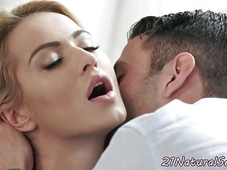Lovely model cockriding after foreplay