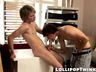 Cute Lukas Gregory fucked in the laundry room by Denis Klein