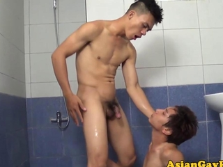 Gaysex asian twink pissing and fucking ass