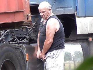 Older Truckers Caught Peeing 22