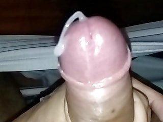 Big load of cum on slow motion