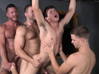 Muscular hunks destroy twinks asshole