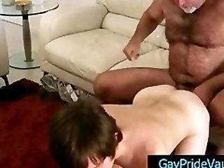 Bear fucking cute twink hard